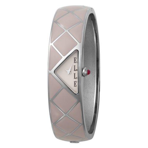 ELLETIME Women's EL20056G03N Steel Bangle Pink Resin Watch