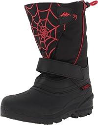 Tundra Quebec Snow Boot (Toddler/Little Kid/Big Kid),13 Little Kid M,Black/Red/Web