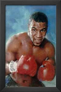Professionally Framed Iron Mike Tyson boxing poster Kid Dynamite punch-out - 11x17 with Solid Black Wood Frame