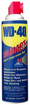 WD-40 10024 Lubricant, Aerosol Can with Big Blast Nozzle, 18 Fluid Ounce, 3
