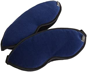 Lewis N. Clark Comfort Eye Mask 2 Pack Blue One Size