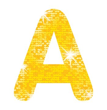 "Trend Enterprises Sparkle Letters & Marks Stick-Eze Stick-On Letters, 2"", Yellow (T-78304)"