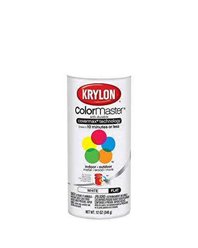 Krylon 51502 Flat White Interior and Exterior Decorator Paint - 12 oz. Aerosol (White Paint Outdoor Wood compare prices)