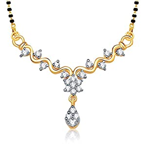 VK Jewels Zig Zag Stones Gold and Rhodium plated Mangalsutra Pendant   MP1146G [VKMP1146G] available at Amazon for Rs.199