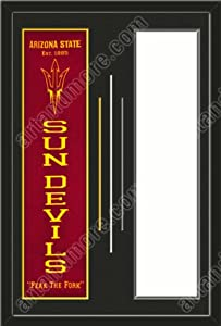 Arizona State Sun Devils & Your Choice of other Team Heritage Banner Framed-House... by Art and More, Davenport, IA