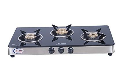 ROHM-Glass-Gas-Cook-Top-Sleek-Deluxe-(3-Burner)