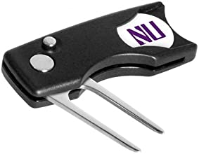 Northwestern Wildcats Spring Action Divot Tool with Golf Ball Marker Set of 2