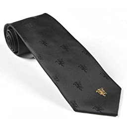 Manchester United Football Club Official Soccer Gift Black Tie Gold Devil