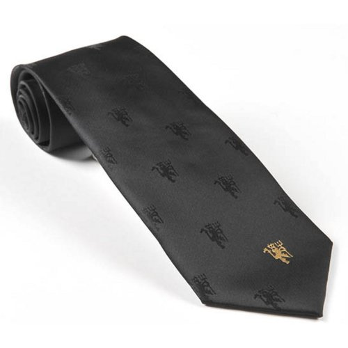 manchester-united-football-club-official-soccer-gift-black-tie-gold-devil