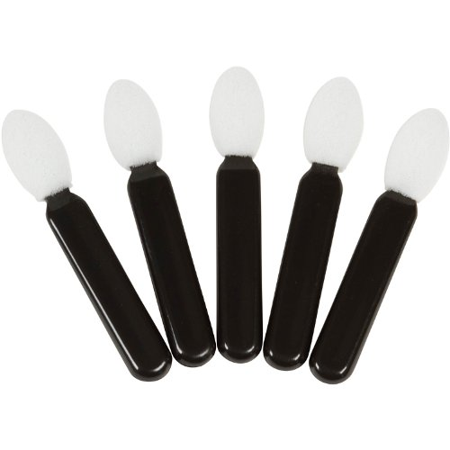 Zink Color Oval Eye Shadow Applicator Black x5pc