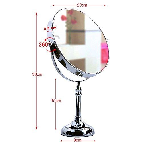 songmics bbm u espejos para maquillaje cosmtico de bao u x aumentos color plateado