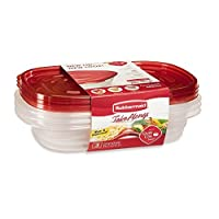 Rubbermaid Take Alongs Food Storage Container, Divided Dishes, Clear, Set of 3