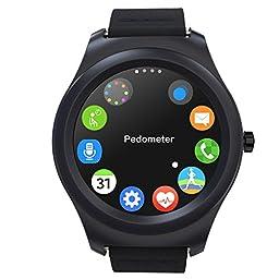 TECKING 32GB Smartwatch with Bluetooth 4.0 - Black