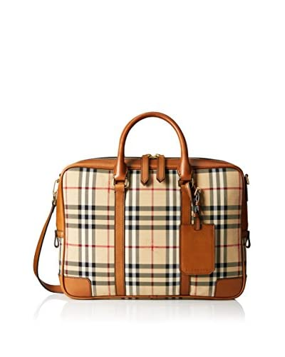 Burberry Men's Checked Briefcase Bag