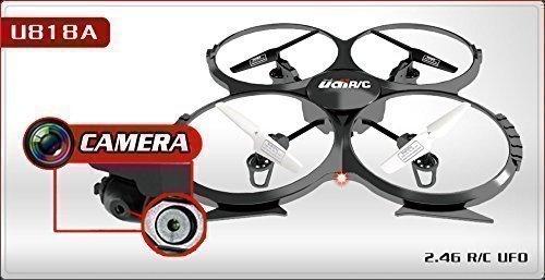 UDI U818A - RC UFO avec Camera, 3D Quadrocopter - Drone, 2.4 GHz