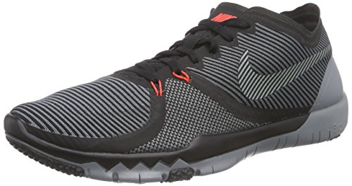 Nike Mens Free Trainer 3.0 V4 Running Shoes (Black, Cool Grey) Sz. 10 (Cool Nike Running Shoes compare prices)
