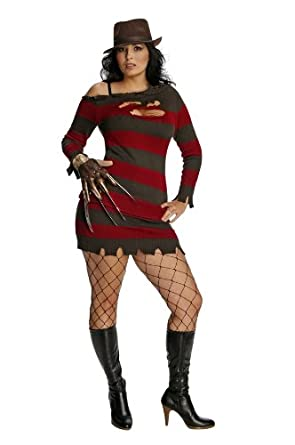 Secret Wishes  Nightmare On Elm Street Miss Krueger Costume, Black, Plus