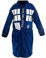 Doctor Who Blue Fleece Tardis Bathrobe one size fits most