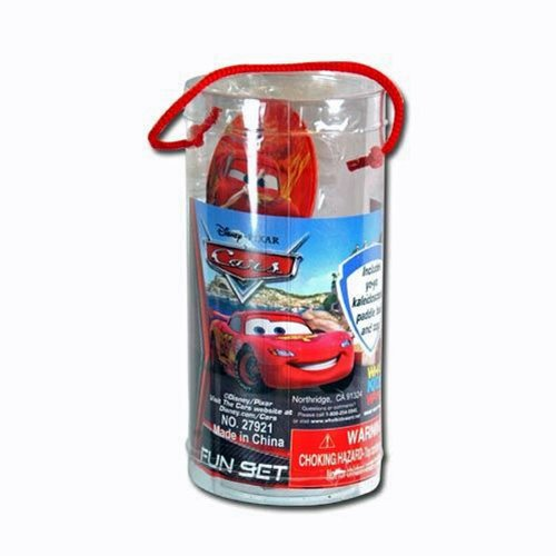 Disney Pixar Cars McQueen Fun Sets (Includes Yo Yo, Kaleidoscope, Paddle Ball and Top)