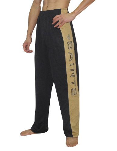 NFL New Orleans Saints Mens Light Weight Dri-Fit Mesh Track Warm Up Pants Medium Black at Amazon.com