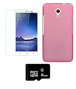 DEPARQ Soft back cover for Meizu m3 note With 8 GB MEMORY CARD AND TEMPERED CLASS
