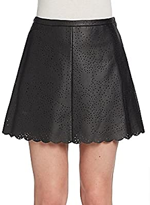 Bcbgmaxazria Perforated Faux Leather Skirt