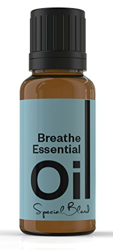 Cielune Breathe Essential Oil - 100% Pure, Undiluted All Natural Premium Blend of Peppermint, Rosemary, Lemon, Eucalyptus - Improves Breathing and Addresses Congestion - Satisfaction Guaranteed - 10ML