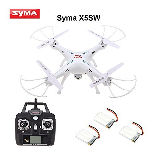 Syma X5SW 4 Channel Remote Controlled Quadcopter with HD Camera for Real Time Video Transmission, 31 x 31 x 10.5cm, White (Remote Controlled Quad Copter compare prices)