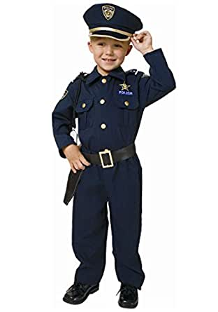 Dress Up America Police Officer Deluxe Toddler Costume