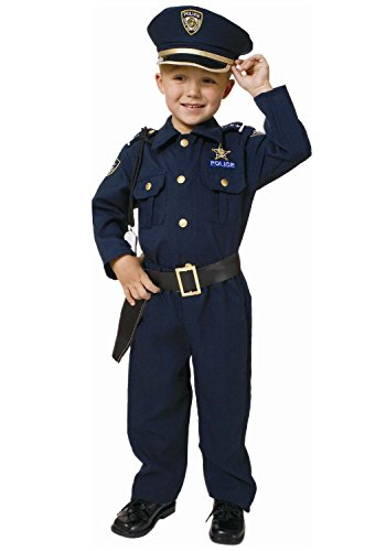 Pretend Police Toddler Costume Dress-Up Set Size 2T