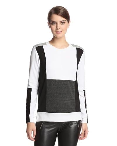 AIKO Women's Danae Sweatshirt  [Optic/Heather Grey/Charcoal]