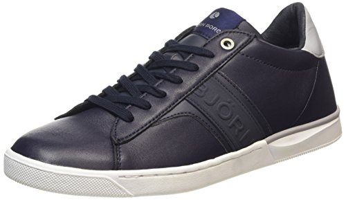 Björn Borg Footwear - T100 Low Lea M, Sneakers da uomo, multicolore (navy-grey), 40