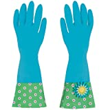 Boston Warehouse Flower Garden Glamour Glove Set, Blue