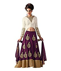 Jds Fashion Women's Crepe Silk Lehenga Choli (JDS FASHION_purple_Free Size)