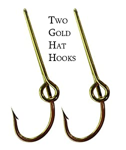 Eagle claw hat fish hook set of two gold hat for Fish hook on hat