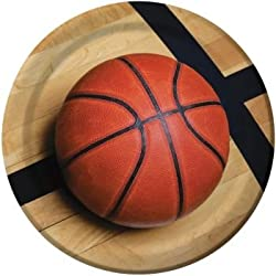 Sports Fanatic Basketball 9-inch Plates