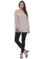 Printed Off-Shoulder Tunic