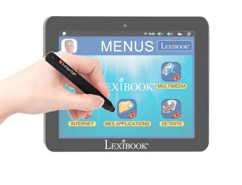 Stylet noir en aluminium - forme crayon - pour écran de tablette tactile Lexibook Tablet Serenity Ultra MFC410FR dédiée aux seniors