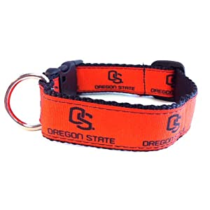 NCAA Oregon State Beavers Dog Collar, Orange, X-Small