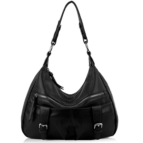 yaluxe-women-ladies-soft-cowhide-leather-hobo-shoulder-bags-with-front-pockets-black