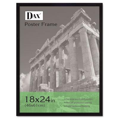 DAX Flat Face Wood Poster Frame, Clear Plastic Window, 18 X