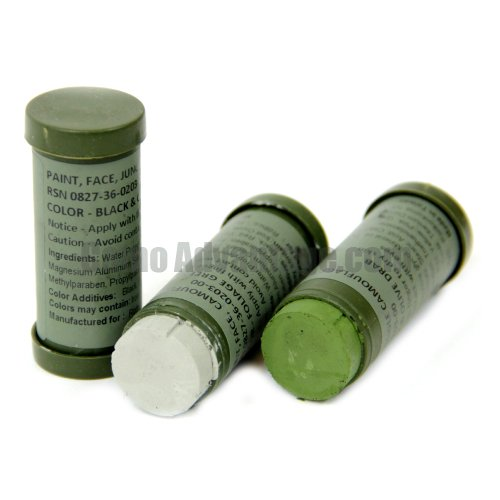 3 Pack Camo Face Paint Sticks