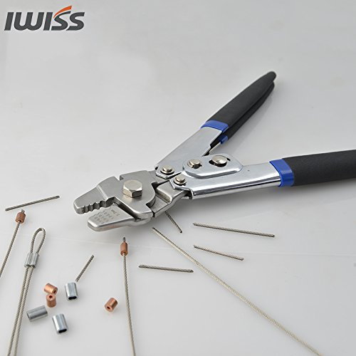iwiss wxs 255 crimping tool for wire rope fishing lines up to 2 2mm new ebay. Black Bedroom Furniture Sets. Home Design Ideas