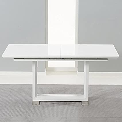 Beckley Solid Wood Table With White High Gloss Finish