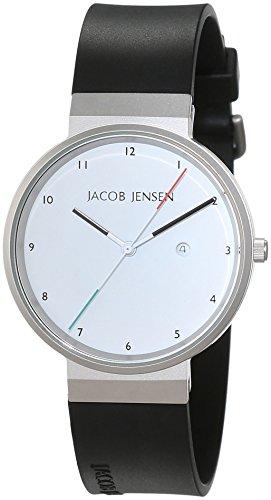 Jacob Jensen Unisex-reloj Jacob Jensen NEW Series Item NO, 733 analógico de cuarzo de caucho Jacob Jensen NEW Series Item NO, 733
