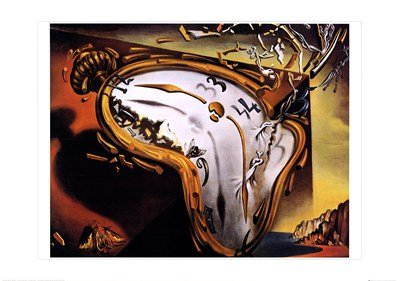 Soft Watch At Moment of First Explosion, c.1954 Finest LAMINATED Print Salvador Dali 39x28