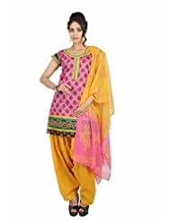 Fashiontra Women's Cotton Straight Cut Salwar Suit - B00KNW1BW6