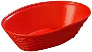 Carlisle 650405 Red 1.1-qt. WeaveWear Oval Basket (Case of 12)