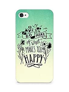 AMEZ do more of what makes you happy Back Cover For Apple iPhone 4s