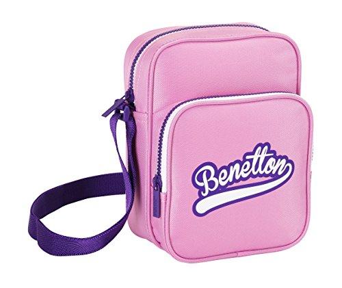 Benetton-Borsa a tracolla, 17 x 23 x 7 cm, colore: rosa (Safta 611551580)